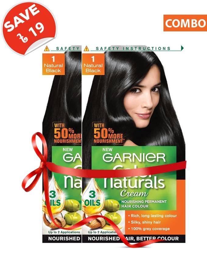 Color Naturals Shade 1 (Natural Black) Combo For Women