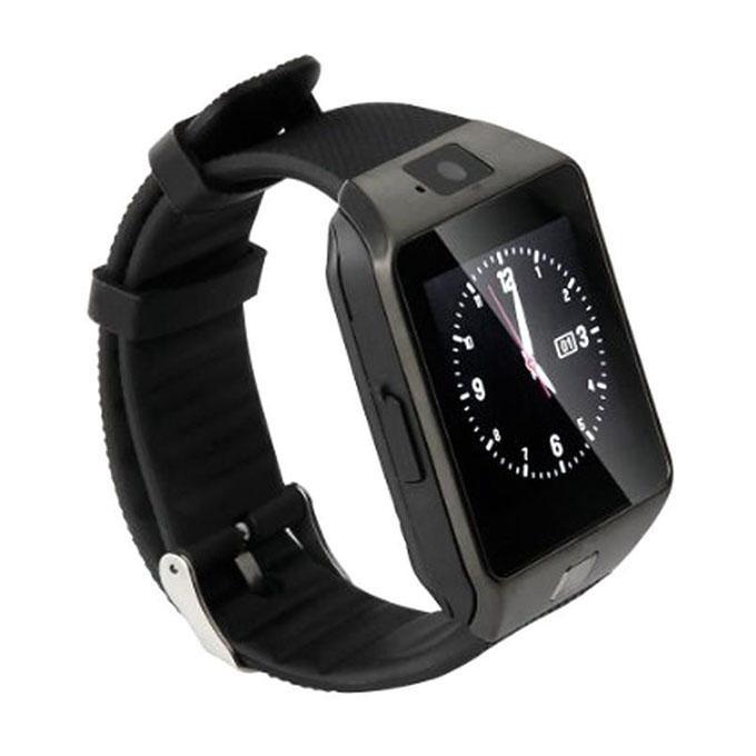 DZ09 Single Sim Touch Smartwatch - Black