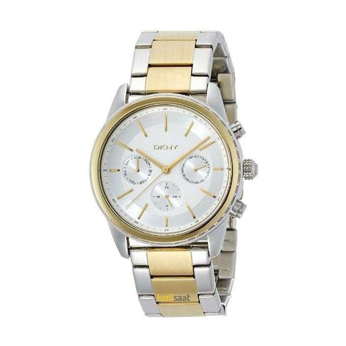 NY2333 Stainless Steel Chronograph Watch For Women - Silver