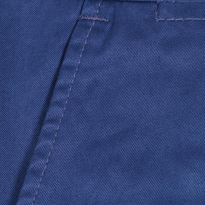 Blue Twill Casual Gabardine Pant For Men
