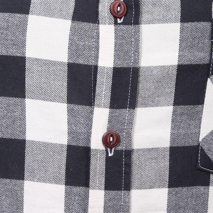 Black And White Flannel Shirt For Men