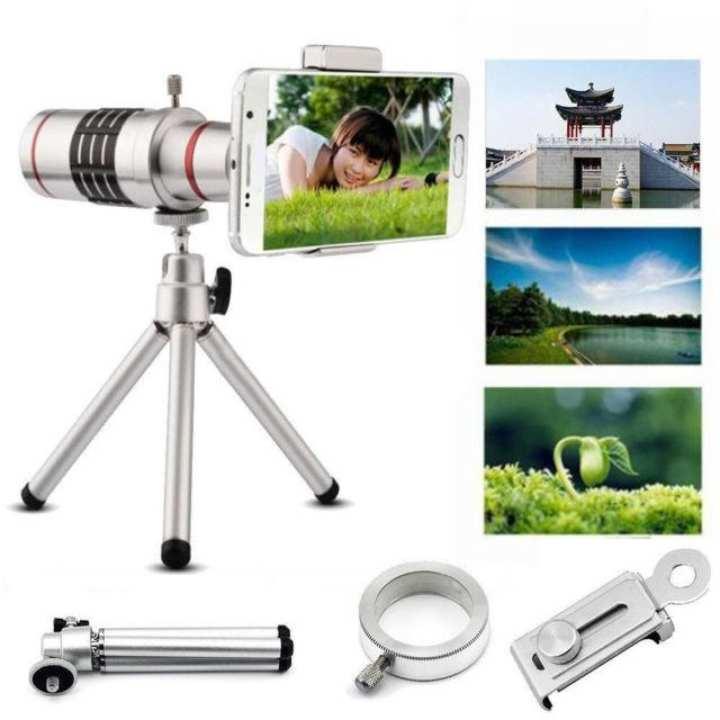 Any Mobile DSLR 12X Zoom Mobile Camera Lens - Silver