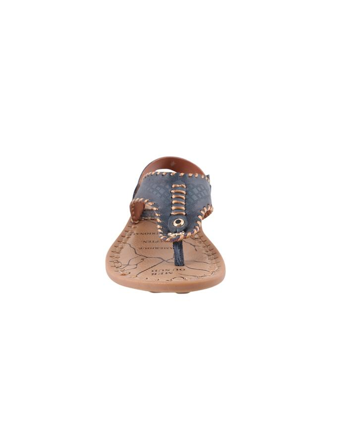 Hizbos Leather Casual Sandal For Men - Teal