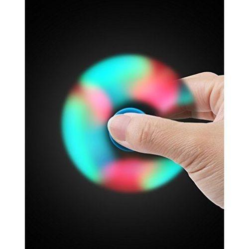 LED Multicolor Fidget Spinner Stress Reducer - Green