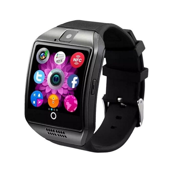 Q18 - Single SIM Smartwatch - Black