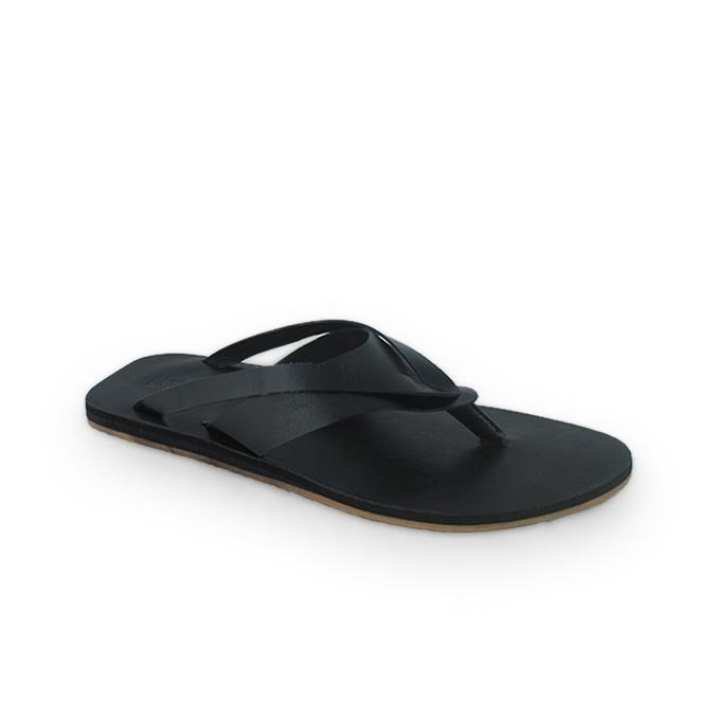 Black PU Leather Sandals for Men
