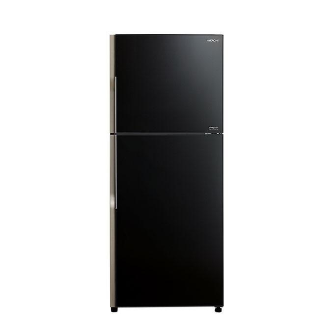 R-VG420P3M/R-VG420P3 GBK Glass Series Top Mount Refrigerator 382L - Black