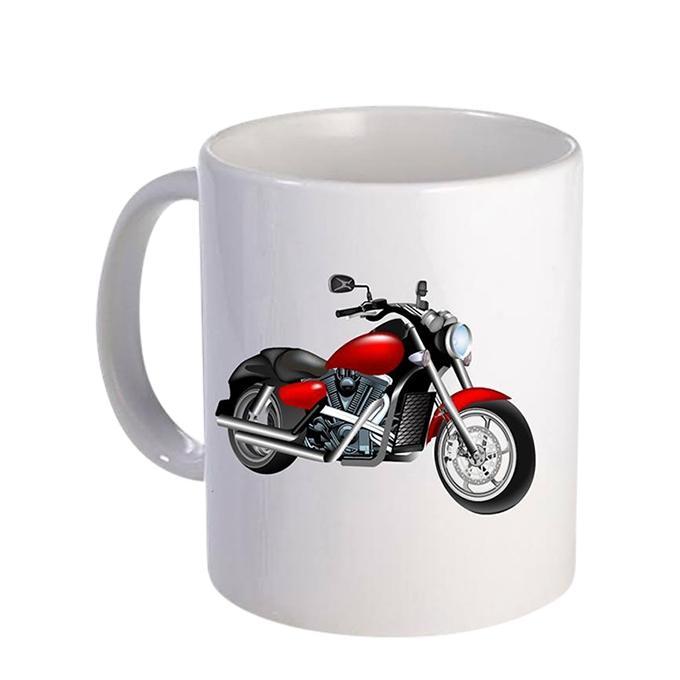 Motor Cycle Ceramic  Mug - White