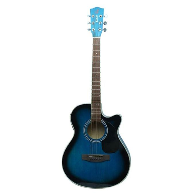 Blue Professional Semi Acoustic Guitar With 5 Bend Equalizer and Tuner