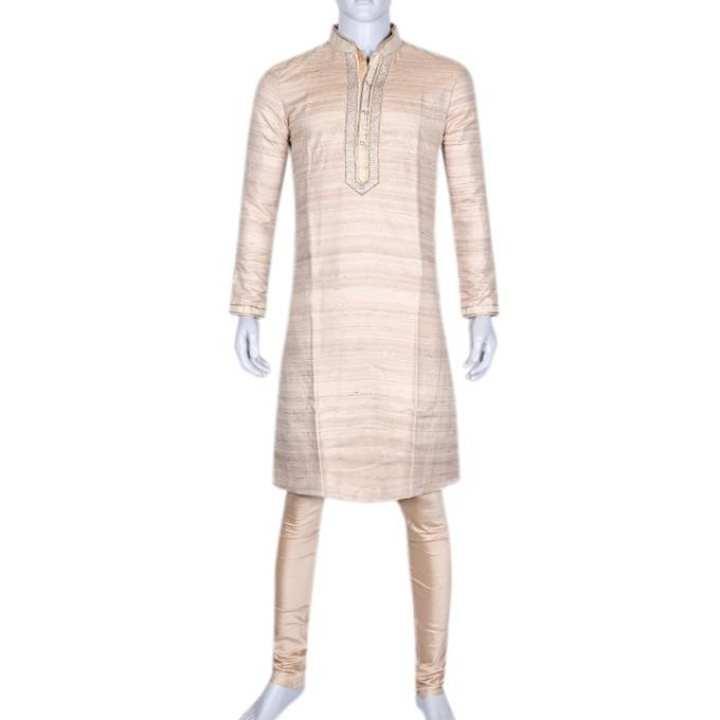Silk Casual Panjabi For Men - Antique White