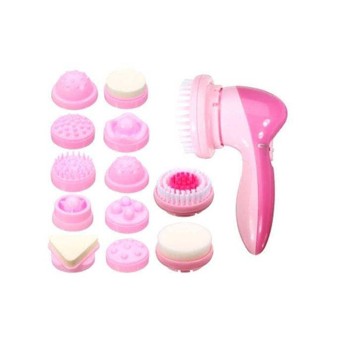 AE-8781 - 12-in-1 Multifunctional Beauty Massager - Pink
