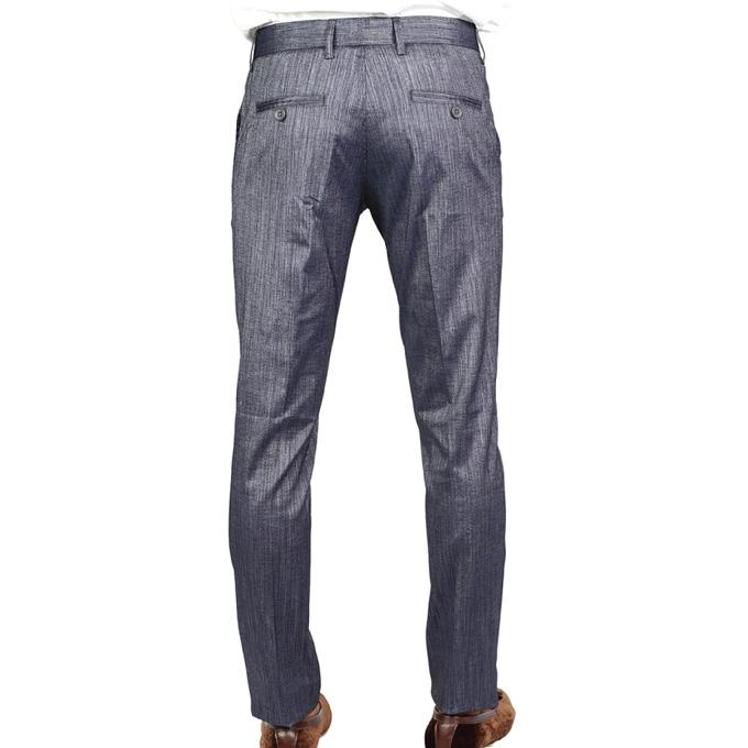 Grey Glossy Twill Formal Pant For Men