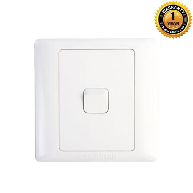 Lotus Series Lotus One Gang 2 Way Switch - White