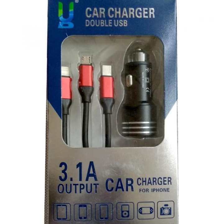 Micro USB Cable to USB for Cars - Black