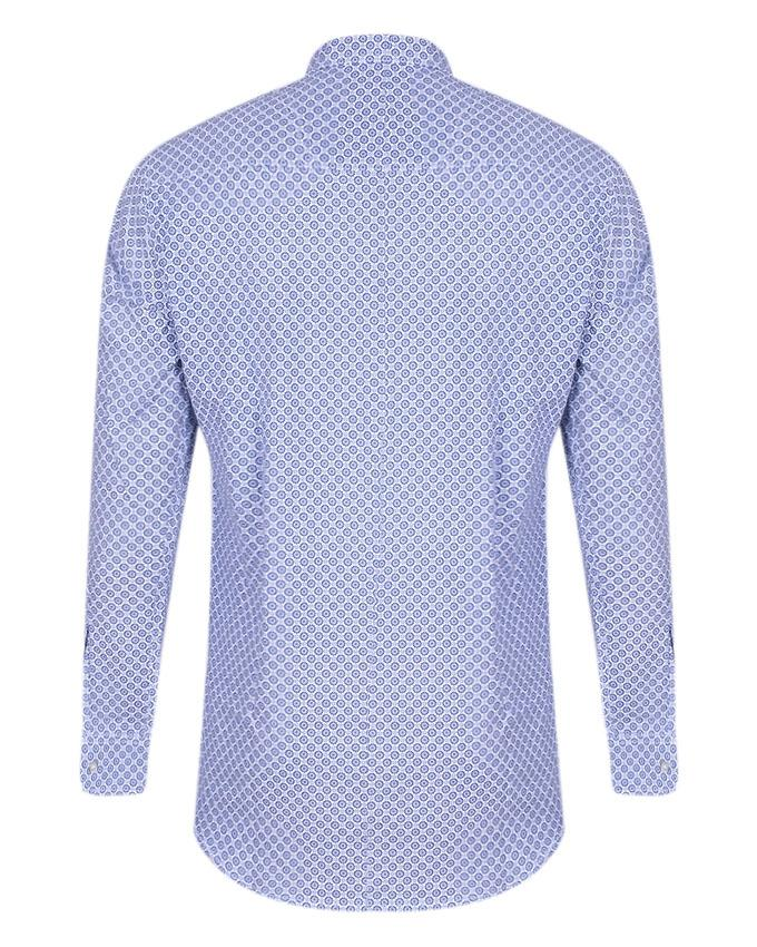Cotton Casual Shirt For Men - Steel Blue