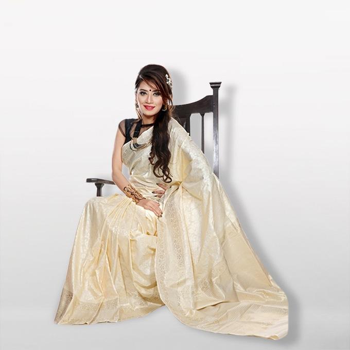 Crime -  Katan Silk & Jori Saree For Women
