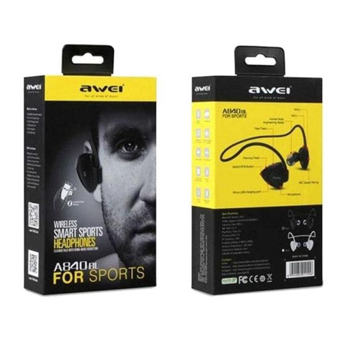 A840BL Wireless Bluetooth In-Ear Earphone - Black