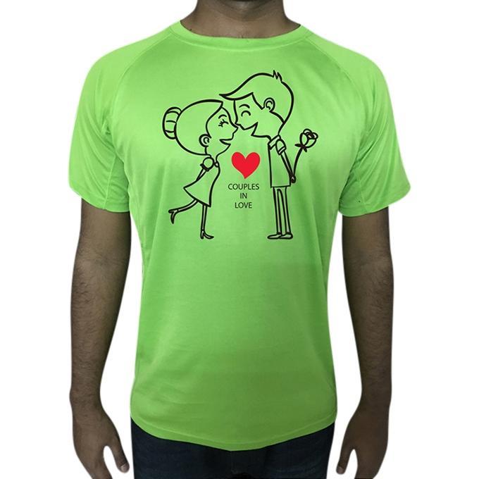 Green Short Sleeve Casual T-Shirt For Men