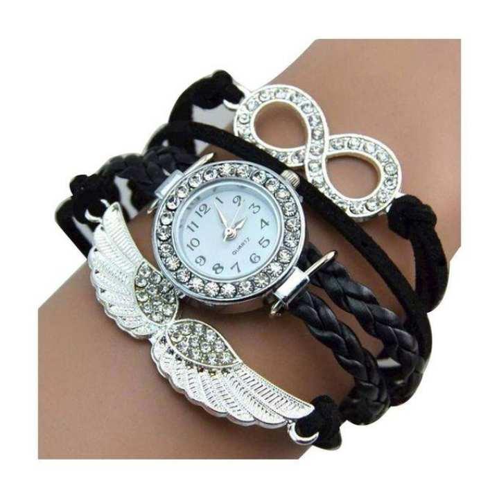 Black Bracelet Watch for Women