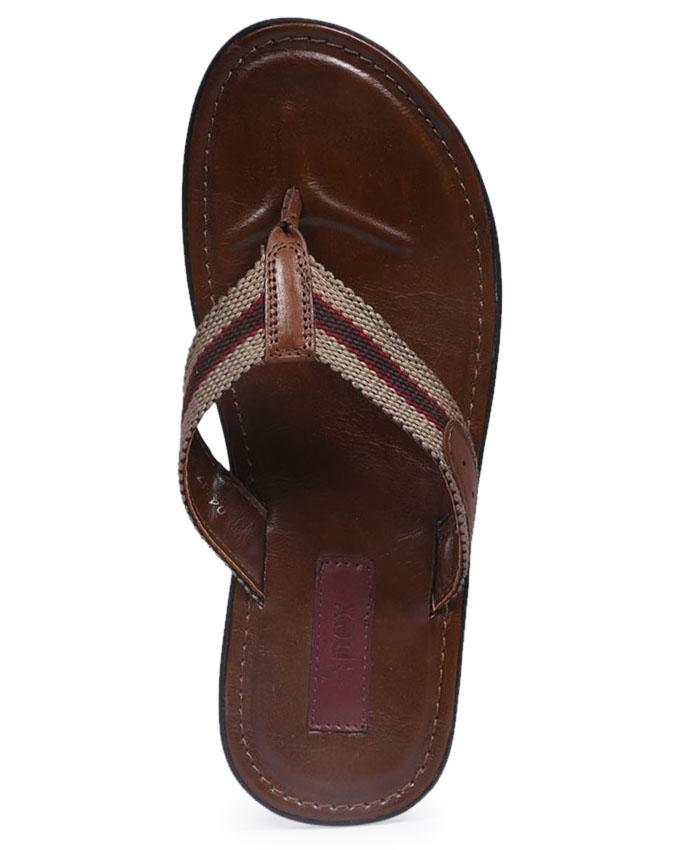 Brown Smooth Leather Casual Sandal for Men