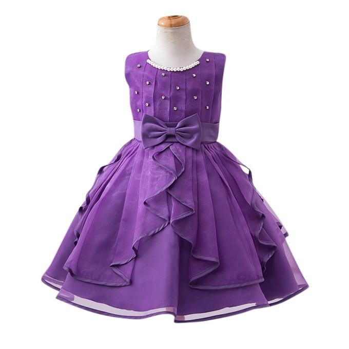 Purple Georgette Party Frock For Girl