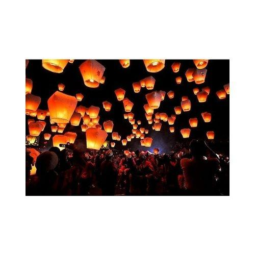 Fanush Sky Lanterns 10pcs - Yellow
