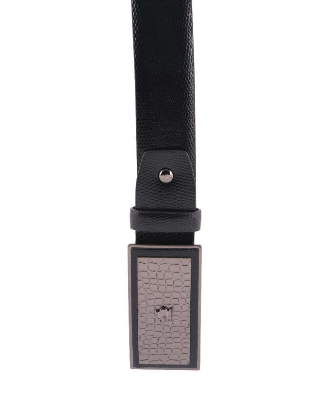 CHEQ Leather Belt For Men - Black