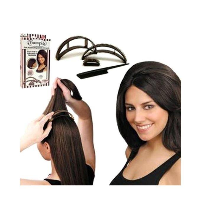 5 In 1 Bumpits Big Happie Hair Bumpit - Black