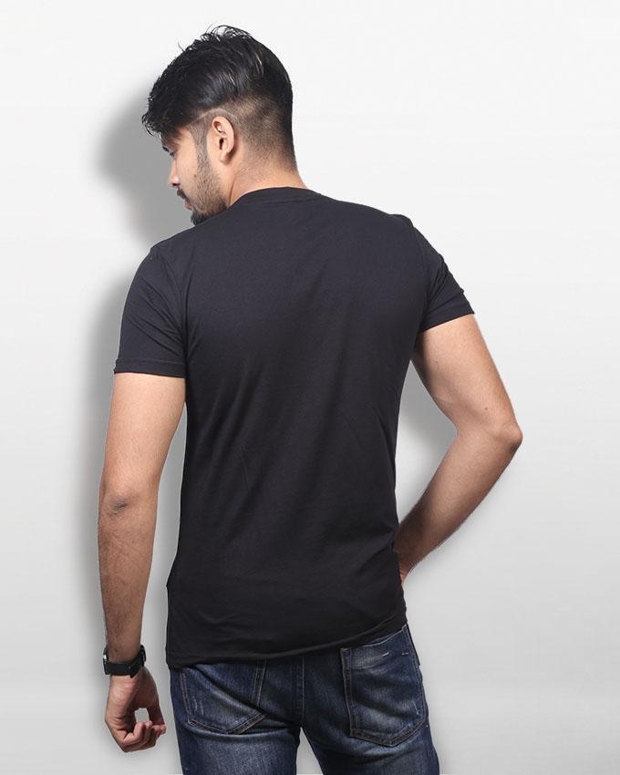 Black Cotton T-shirt For Men