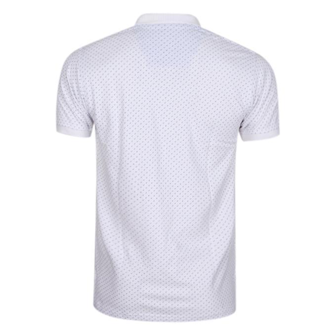 White Cotton Casual Polo For Men