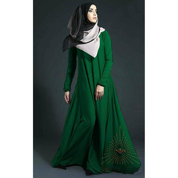 Forest Green BMW Abaya for Women