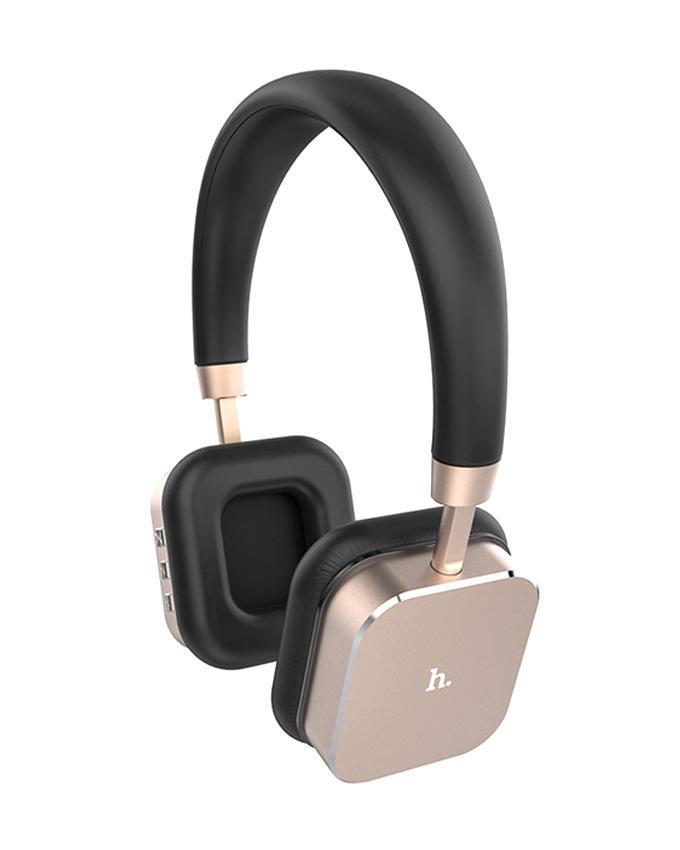 HPW01 Aluminum Hi-Fi 3D Stereo Wireless Bluetooth Headphone - Gold and Black