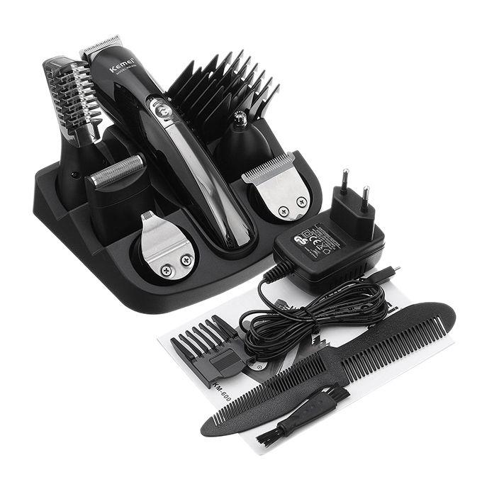 KM-600 Rechargeable Hair Trimmer - Black