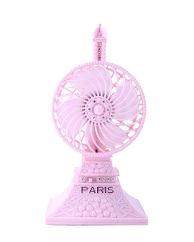 USB Paris Mini Tower Fan - Pink