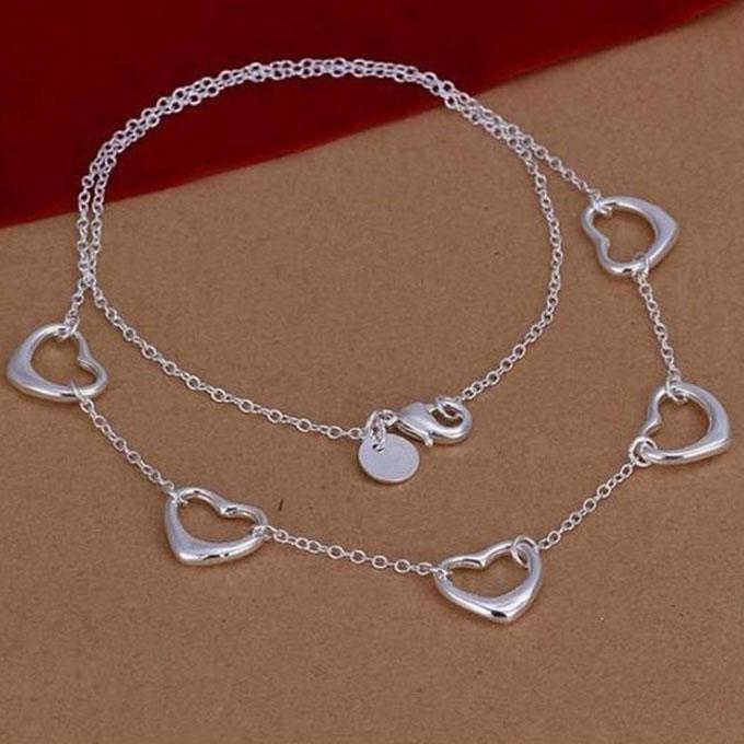 Lekani Heart Shaped Necklace - Silver