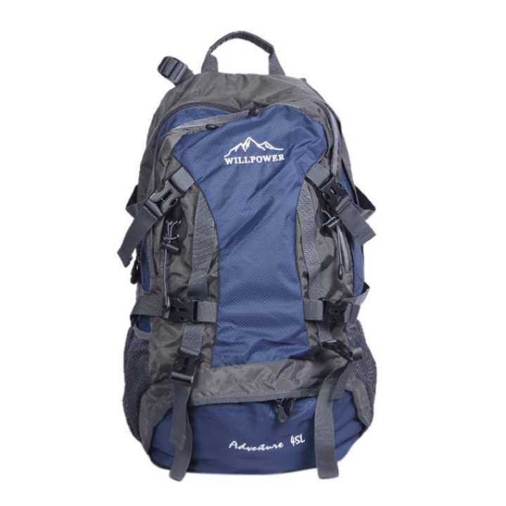 Royal Blue Polystar Backpack For Men