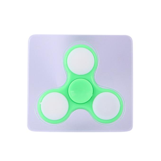 Fidget Spinner, Single LED - Pale Green
