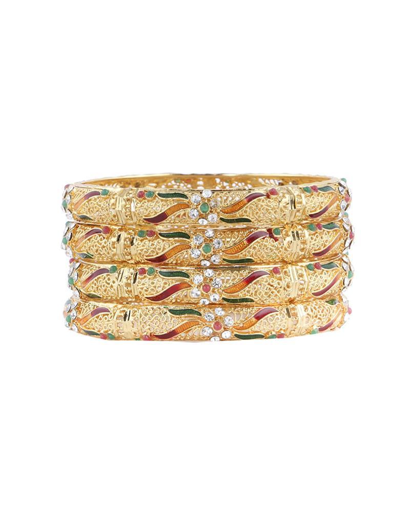 Golden Body  Bangles - Golden