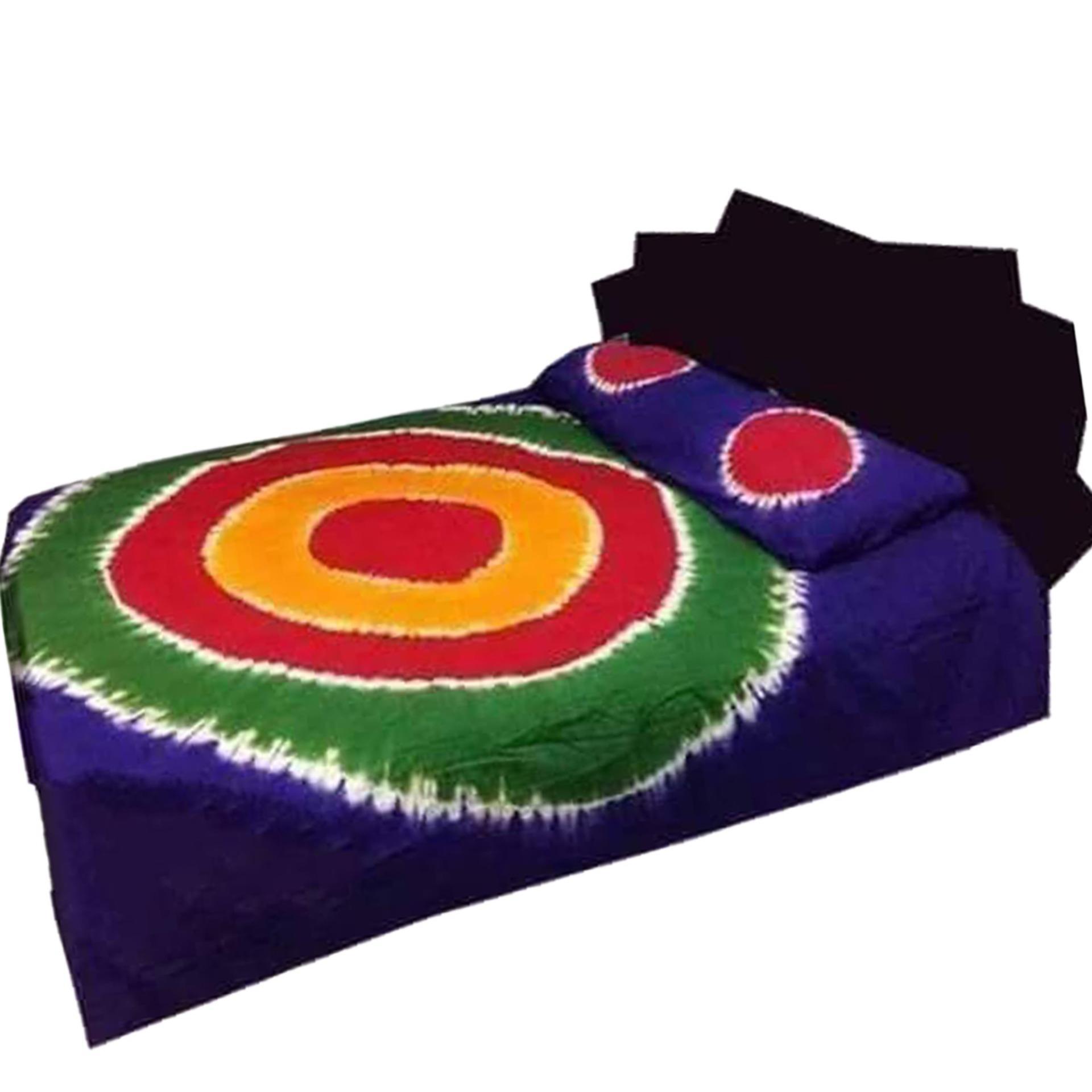 Cotton Multicolor Batik Bedsheet King Size