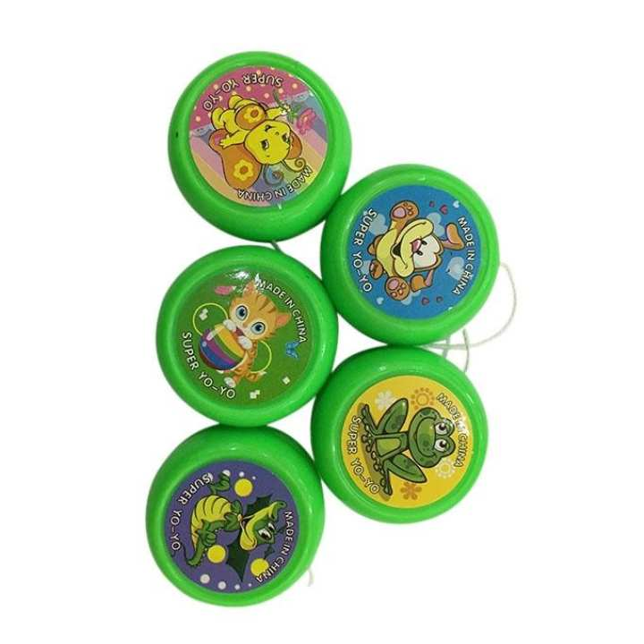 Pack of 5 Plastic Yo Yo - Green