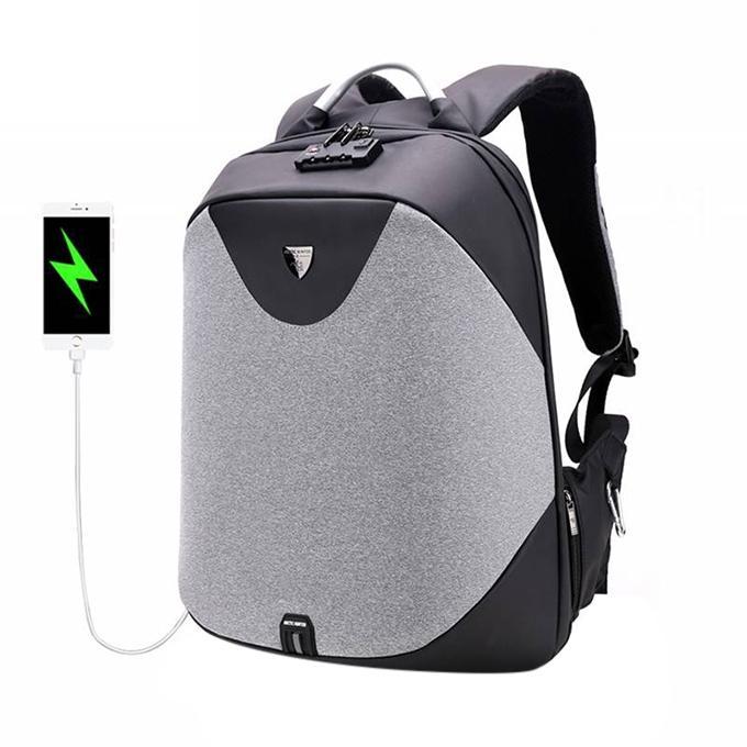 ARCTIC HUNTER New Anti-theft 15.6 Laptop Men Bag School Password Lock  Backpack Waterproof Casual 7cec84015565c