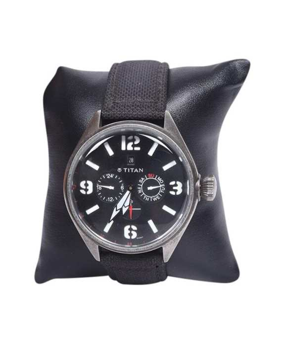 Black Dial Chronograph Watch For Men