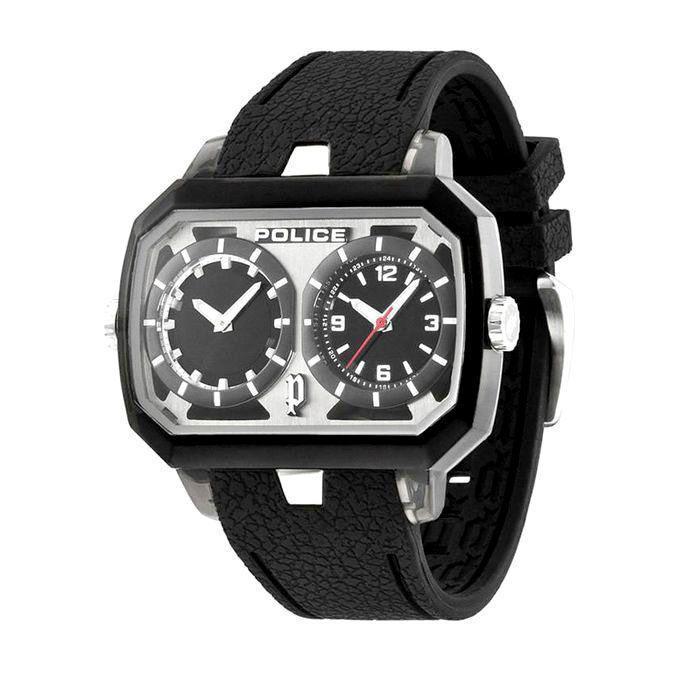 PL.13076JPCL/04 Hydra Rubber Chronograph Watch for Men - Black