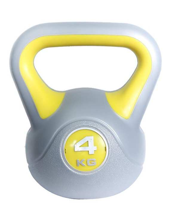 Kettle Bell - 4Kg - Grey and Yellow