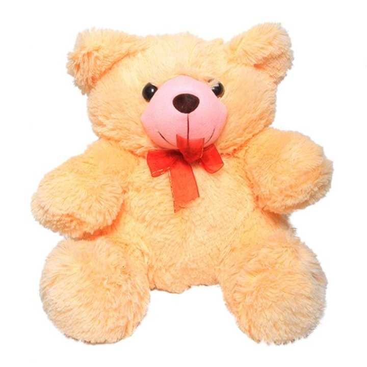 Woolen Teddy Bear Soft Doll -  Light Orange