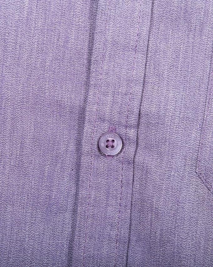 Cotton Casual Long Sleeve Shirt - Charcoal