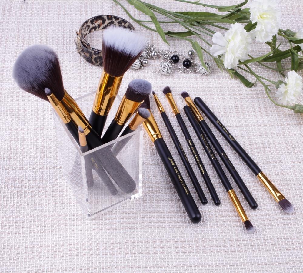 T085 12 PCs Essential Series Brush Set - Black and Golden