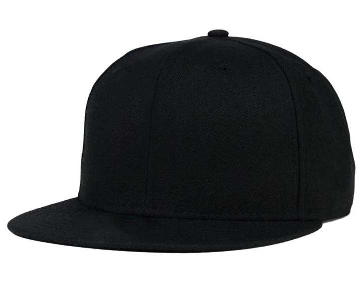 Black Cotton DJ Cap for Men