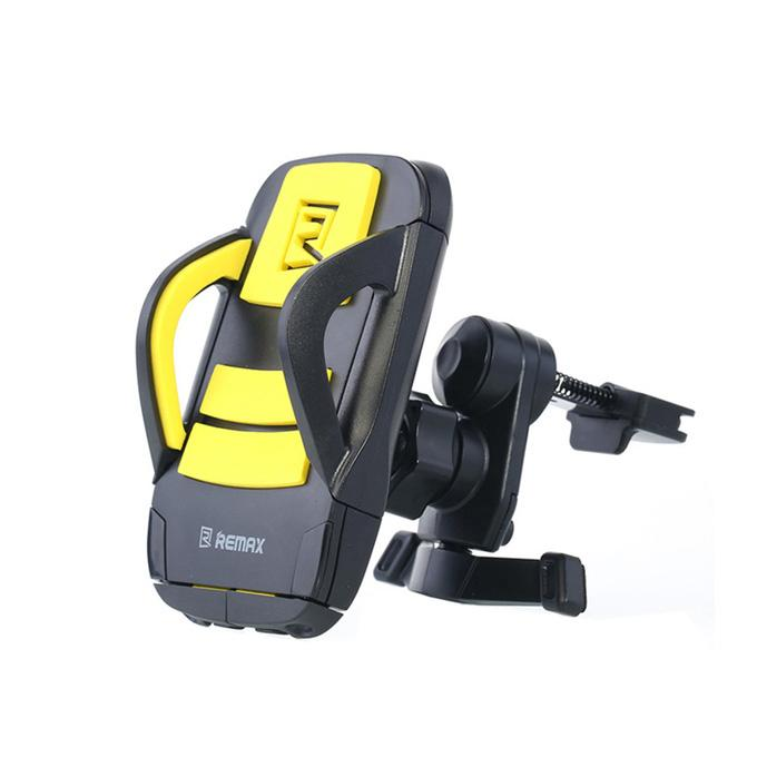 RM-C03 Universal Air Vent Mount Car Stand Mounts Phone Holder Air Outlet Bracket 360 Rotation - Yellow