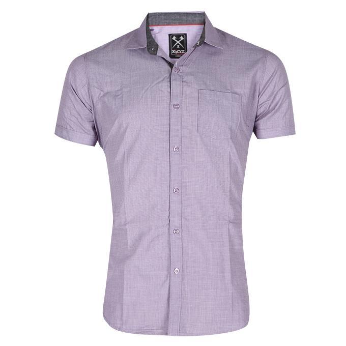 Medium Slate Blue Cotton Shirt For Men